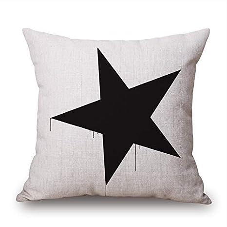 HLZLA Romántico Moderno Simple Beige Patrón de Estrella de ...