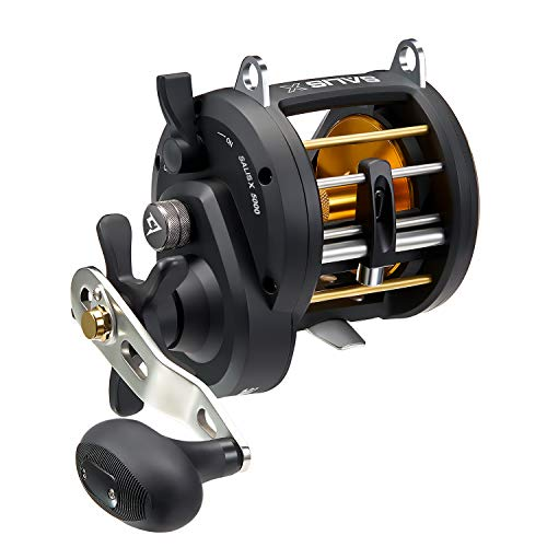 Piscifun Salis X 5000 Right Handed Trolling Reel 6.2:1 High Speed Inshore Saltwater Round Baitcasting Fishing Reels Level Wind Conventional Reel