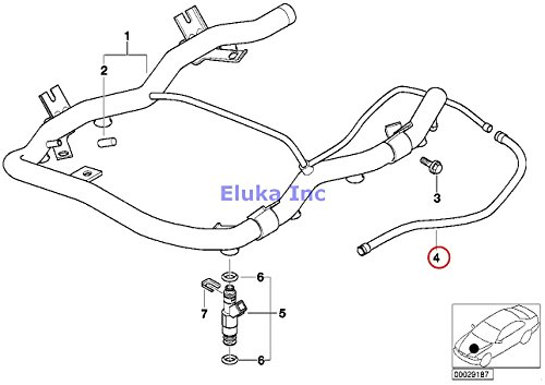 (BMW Genuine VALVES/PIPES OF FUEL INJECTION SYSTEM Inlet Fuel Hose X5 4.4i X5 4.6is)