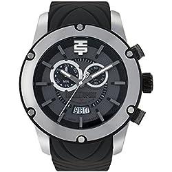 Technosport TS-750-4 Men's Gray Sports Swiss Chronograph Watch Rubber Strap Date Display