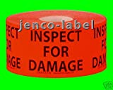 Jenco-Label PL1213R, 500 1.5x2 Inspect For Damage Label/Sticker