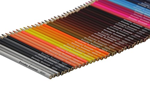 Everyday Essentials Premium Colored Pencils - Set of 72 Individual Colors with Roll up Pouch Canvas Pen Bag (72-Color) by GLTECK (Image #5)