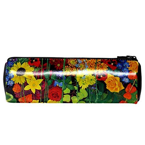 EZIOLY - Estuche de piel con diseño de flores para pintar al óleo ...