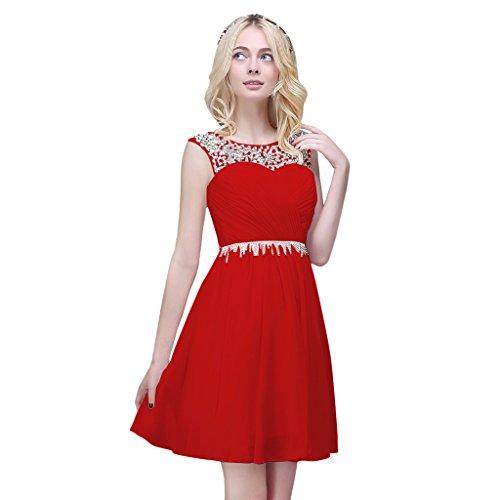 Vimans -  Vestito  - linea ad a - Donna rosso 56