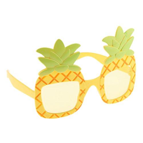 Prettyia Tropical Cocktail Pineapple Sunlasses Party Glasses Fancy Dress Hawaiian Beach Birthday Hen Do Party - Sunlasses