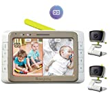 MoonyBaby Split Screen, Wide Angle, Two Cameras System Video Baby Monitor with 5""