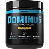 DEDLift Dominus Crash-Free Pre Workout Powder for Energy, Focus, and Muscle Pumps, Orange Mango, 30 Servings