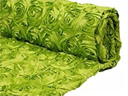 Apple Green Satin Rosette Backdrop Fabric 2 yards by Posey Pillow