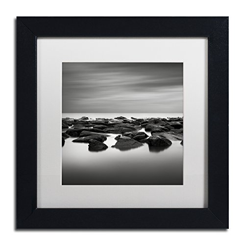 "picture of Trademark Fine Art High Tide by Dave MacVicar Frame, 11 by 11"", White Matte"