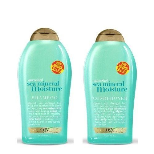 OGX (Quenched) Sea Mineral Moisture Shampoo 19.5oz + Conditioner 19.5oz Duo-Set