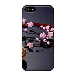 Fashion Protective Fresh Pick Sakura Case For HTC One M8 Cover