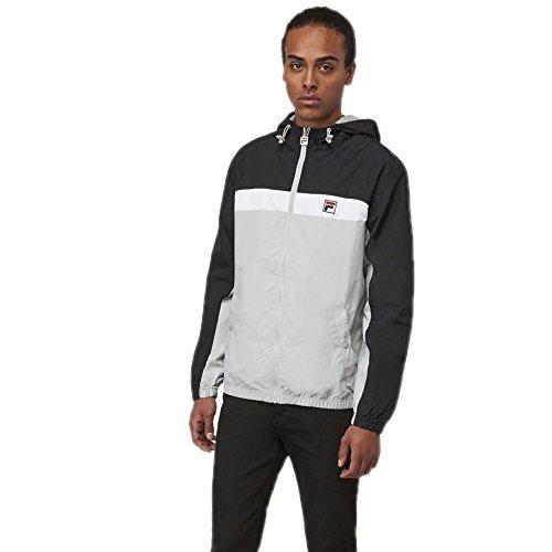 Fila Mens Clipper Wind Jacket  Black  High Rise  White  4Xl