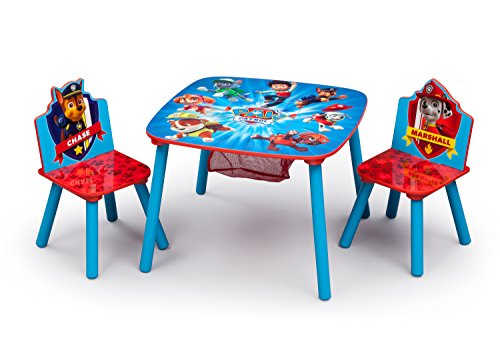 Delta Children Kids Chair Set and Table (2 Chairs Included), Nick Jr. PAW Patrol (Chiara Chair)