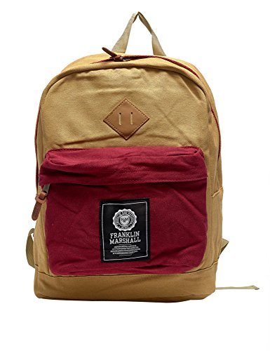 Franklin & Marshall Men's Unisex Beige Backpack In Size One Size Beige