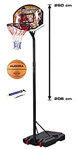 Hudora Basketballständer / Basketballkorb Chicago 206 - 260 cm mit Basketball...