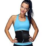 UltraComfy Waist Trimmer Men & Women Sweat Enhancer AB Belt, Waist Trainer Exercise Belt with Sauna Effect