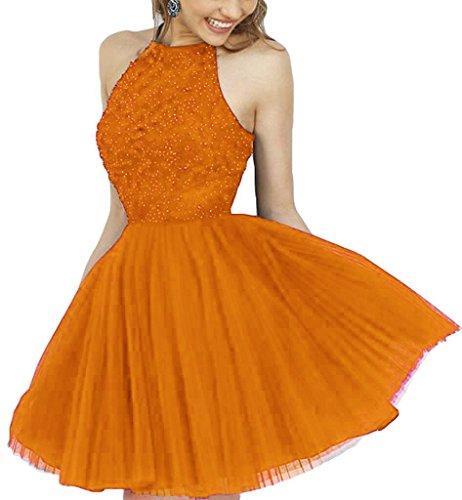 Fanciest Beaded Damen Halter Kurz Dress Abendkleider Ballkleid 2016 Fire Heimkehr Orange xAxqP1rw