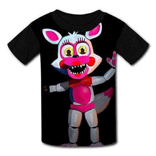 Captain Underpants Fancy Dress Costume (FNAF Roxy Kids 3D Graphic Printed Summer Short Sleeve T-shirts Boys T-shirt Tops XS)