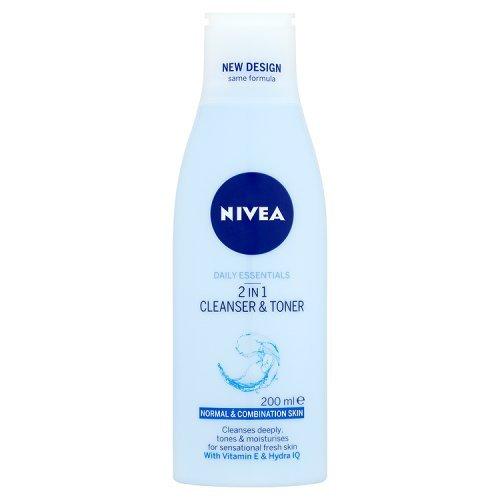 Nivea Visage 2 in 1 Cleanser & Toner 200ml by Nivea