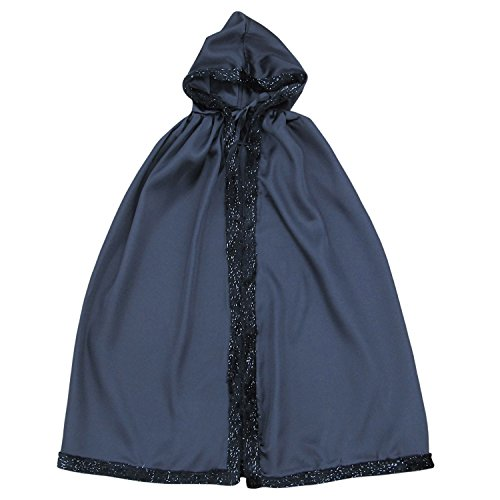 Princess Or Superhero HOODED CAPE Kids Childrens Halloween Costume Accessory (Vampire Bat Black)