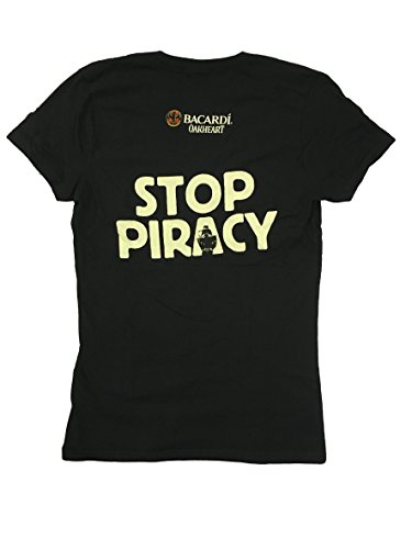 Bacardi-Oakheart-Stop-Piracy-Womens-Black-V-neck