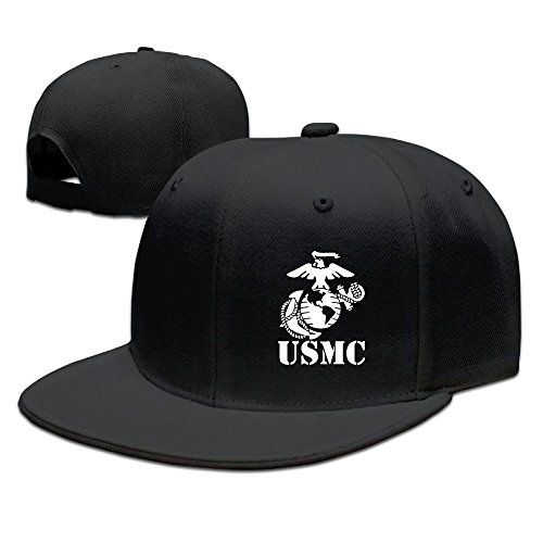 Adjustable Baseball Caps Trucker Hat Unisex/Men/Women - Eagle Globe Anchor USMC Marine (Marine Trucker Hat)