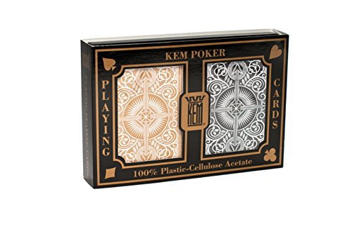 KEM Arrow Black and Gold, Poker Size- Standard Index Playing Cards (Pack of 2) ()