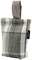 McAlister Heritage Plush Plaid Unfilled Decorative Door Stopper Wedge | 8x6 Gray Black White | Rustic Farmhouse Decor Cabin Accent