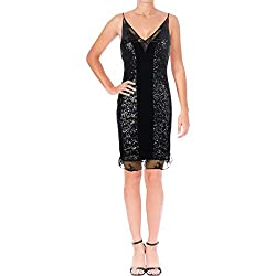 Black Iris Sequin Mini Dress