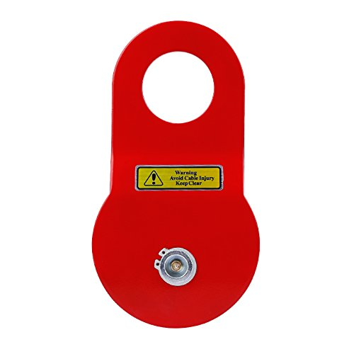 Pismire 10T Heavy Duty Recovery Winch Snatch Block, 16000lb. Capacity, Red
