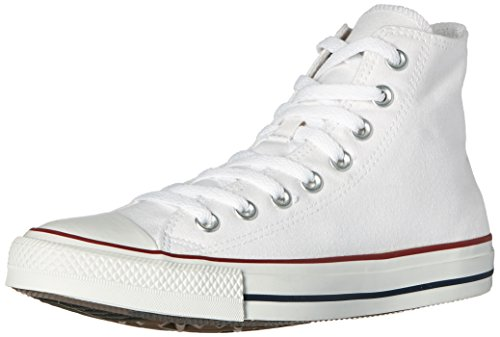 Converse Unisex Chuck Taylor All Star High Top Sneakers Optical White, mens 5, womens 7