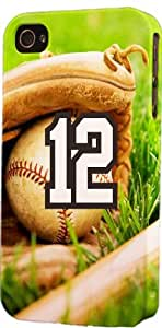Baseball Sports Fan Player Number 12 Plastic Snap On Decorative iPhone 5c Case