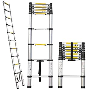 Professional Heavy Duty 10.5 ft Aluminum Extension Telescopic Contractor Ladder Type 330 lbs