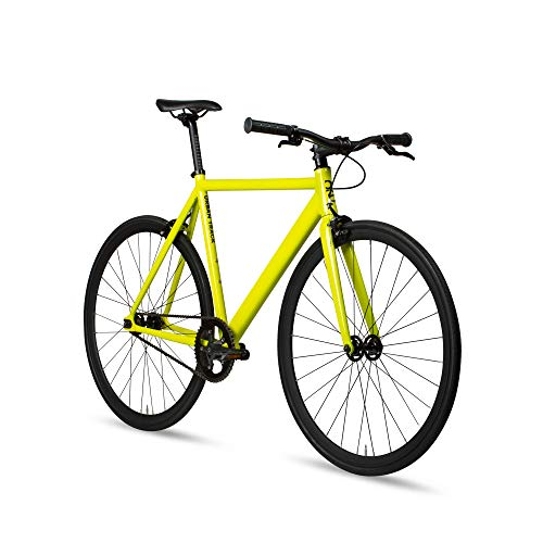 6KU Aluminum Fixed Gear Single-Speed Fixie Urban Track Bike, TBY-52cm