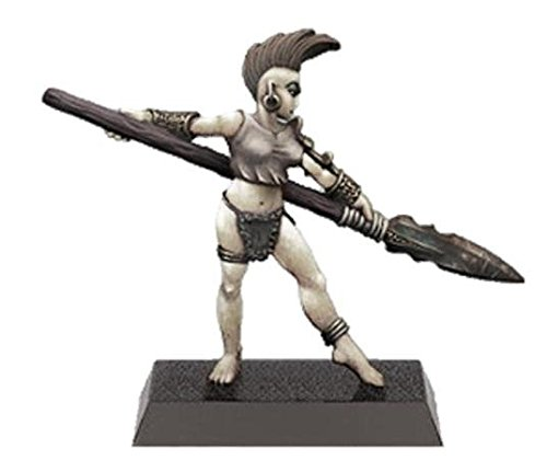 28mm Fantasy Miniatures: Female Wood Elf with Spear Warhammer Fantasy Wood Elves
