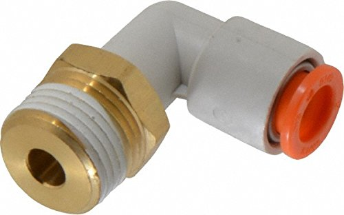 "SMC KQ2L07-34S, PUSH-TO-CONNECT FITTING, ELBOW, 1/4"" TUBE, 1/8"" NPT, ""OLD VERSION"" from SMC"