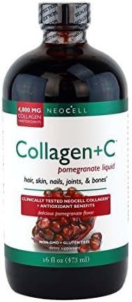 Neocell Laboratories Collagen +C Pomegranate Liquid, - 16 oz (32 oz Total) by NeoCell Laboratories