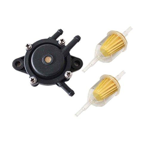 HURI Fuel Pump with Fuel Filter for John Deere L-100 L-120 L-118 L107 L108 L118 LA120