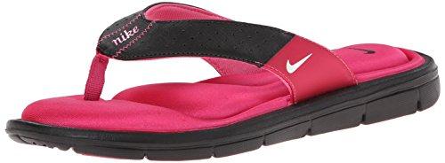Nike Womens Comfort Thong Sandal (10, Black/Vivid - Sandal Comfort Womens