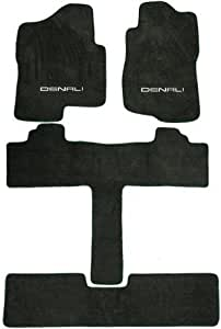 Amazon Gmc Yukon Denali Row Captain Seats Graphite Carpet Floor Mats Logo