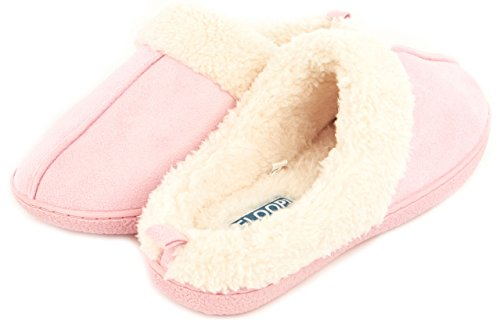 Floopi Womens Fur Lined Clog Slipper W/Memory Foam
