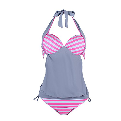 FeelinGirl Womens Stripes Tankini Swimwear product image