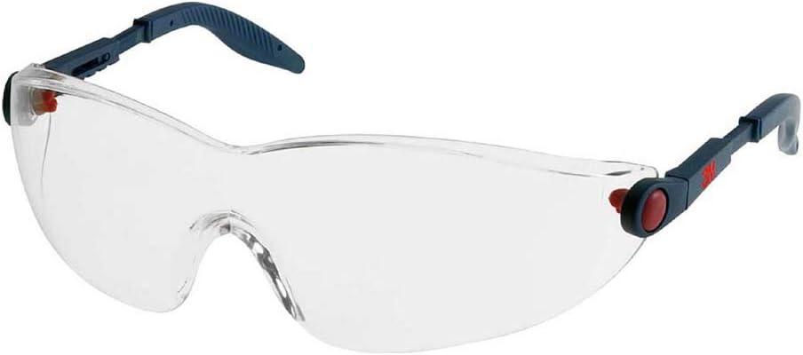 3M Comfort Serie 2740 Gafas de seguridad montura azul PC ocular incoloro recubrimiento AR-AE 1 gafa/bolsa