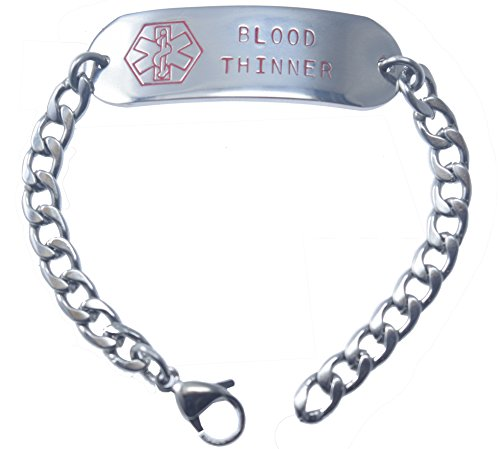 customizable-blood-thinner-medical-alert-bracelet-stainless-steel-8-includes-free-engraving