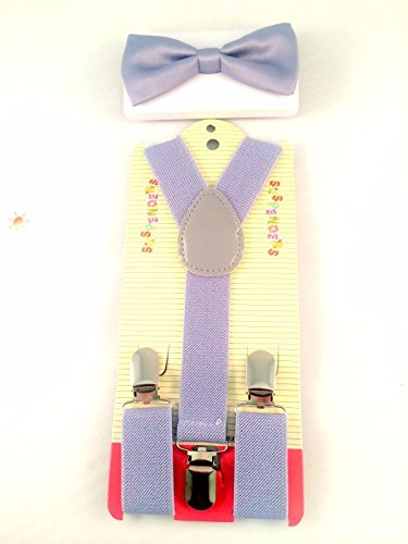 Blazers Proforms Costumes - Gray Bow Tie Sets and Suspenders Sets for Kids - Toddler Suspenders Children Suspenders USA Patriotic (Dickie Bow)