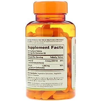 Amazon com: Sundown Naturals Calcium 600 mg Vitamin D3, 120