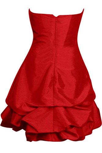 formale Sunvary posteriore con da Pageant aperta cuori brillantini parte Rosso personalizzata sera e abito 0aBwrR0