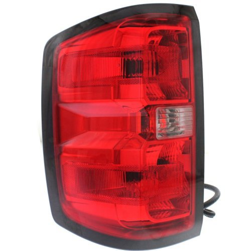 Tail Light Compatible with CHEVROLET SILVERADO 1500 2014-2015/2500 HD/3500 HD 2015 LH Assembly (2500/3500 HD with Dual Rear Wheels) All Cab Types