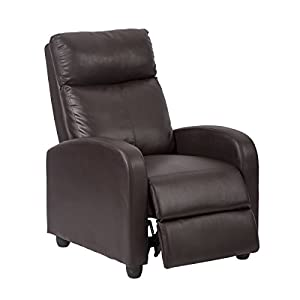 Amazon Com Single Recliner Chair Sofa Furniture Modern Leather