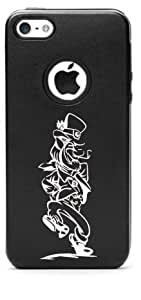 DANCING LEPRECHAUN Aluminum and Silicone iPhone 5c Protective Case (Multiple Colors YOU CHOOSE) (Black)
